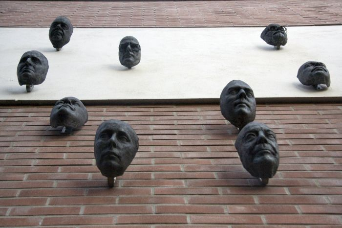 Wall of famous faces